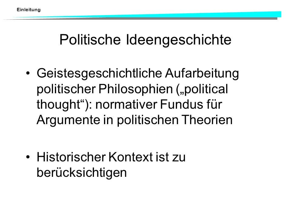Politische Ideengeschichte