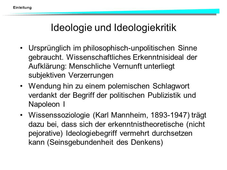 Ideologie und Ideologiekritik