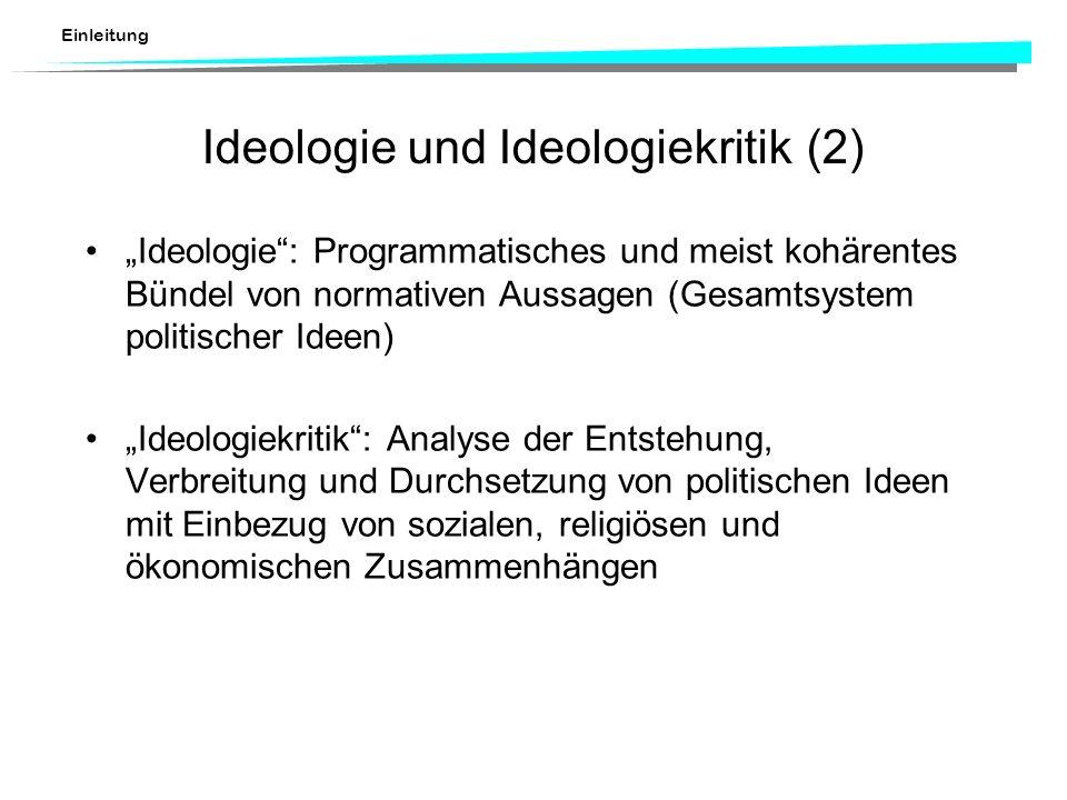 Ideologie und Ideologiekritik (2)