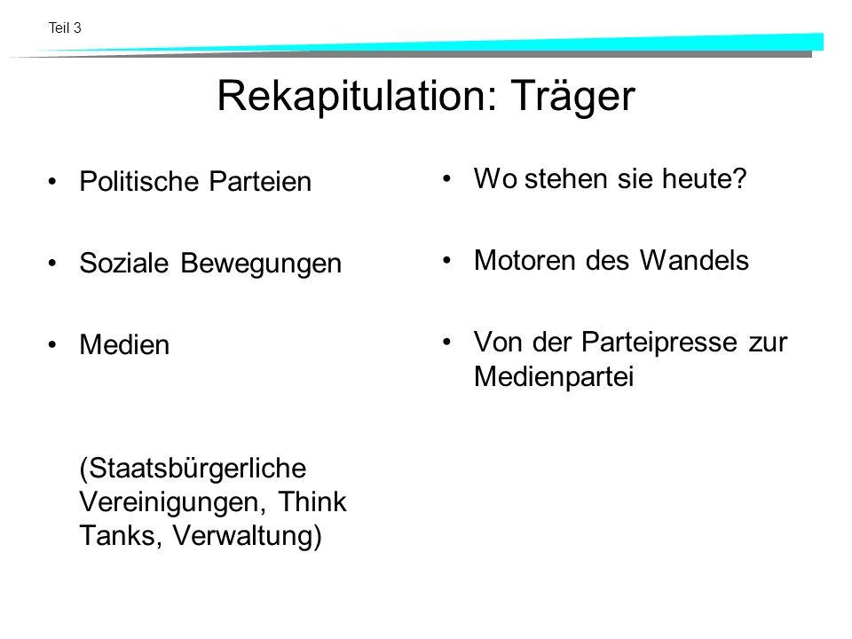Rekapitulation: Träger