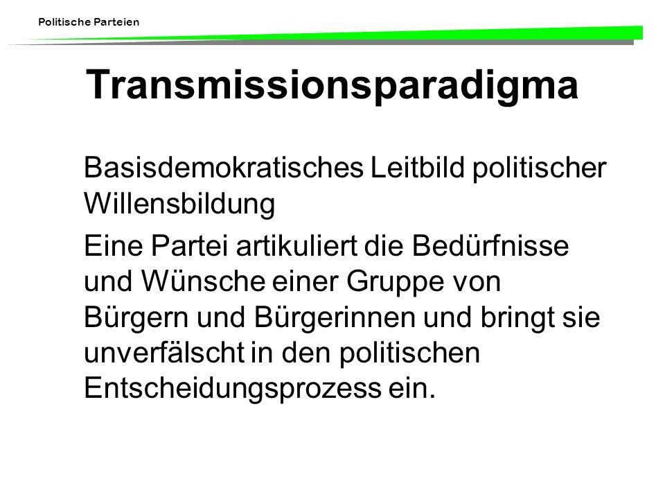 Transmissionsparadigma