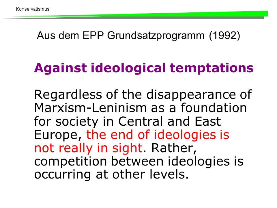 Aus dem EPP Grundsatzprogramm (1992)