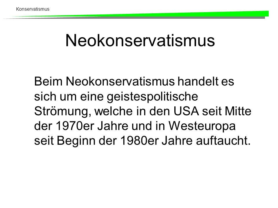 Neokonservatismus