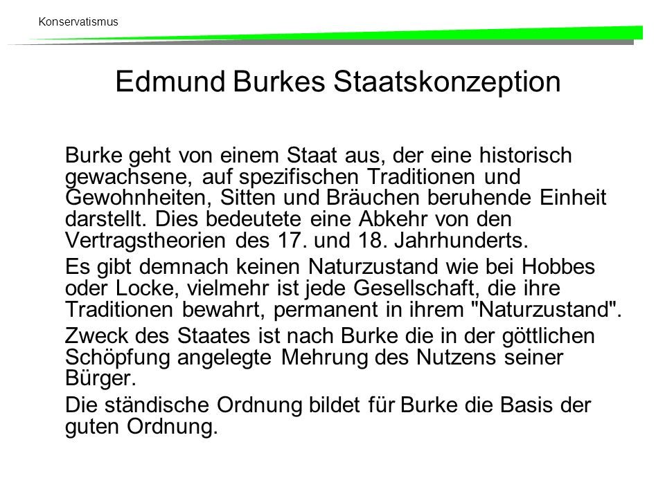 Edmund Burkes Staatskonzeption