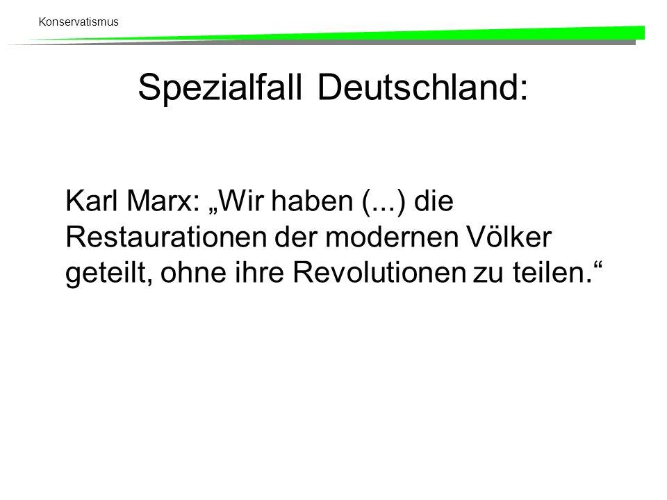 Spezialfall Deutschland: