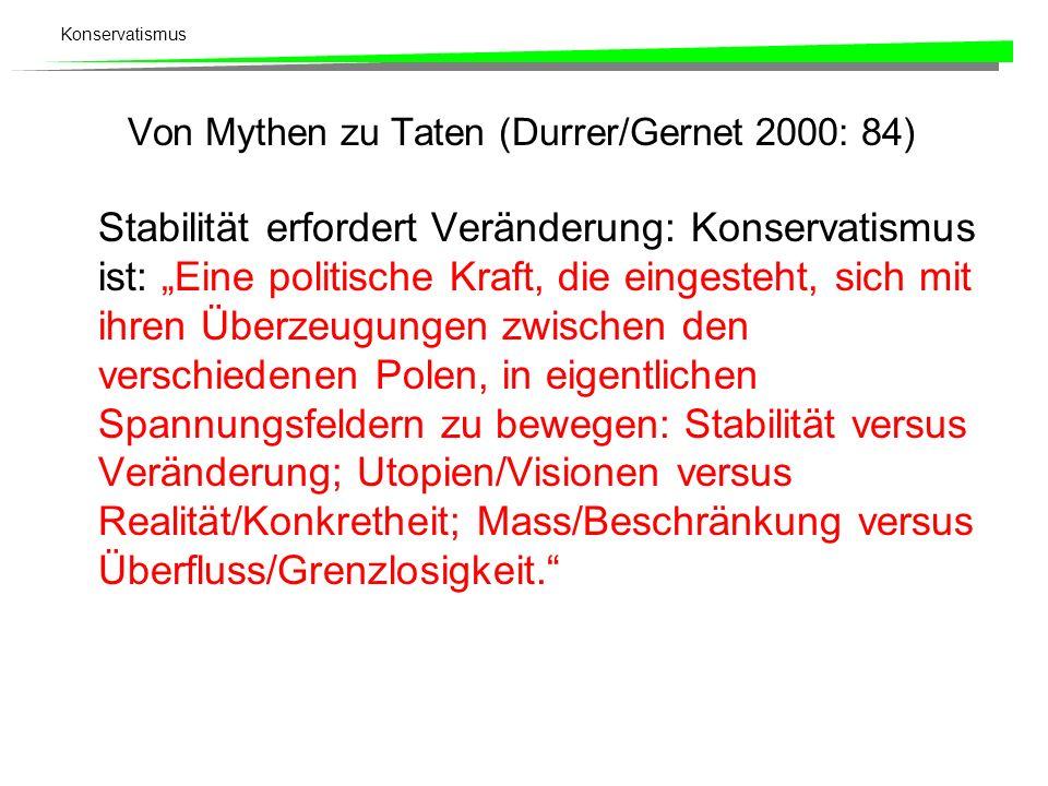 Von Mythen zu Taten (Durrer/Gernet 2000: 84)