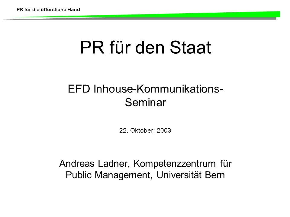 EFD Inhouse-Kommunikations-Seminar