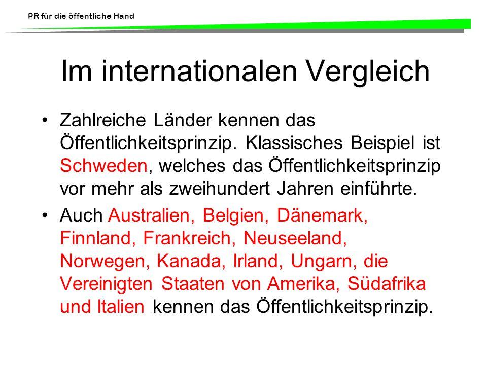 Im internationalen Vergleich