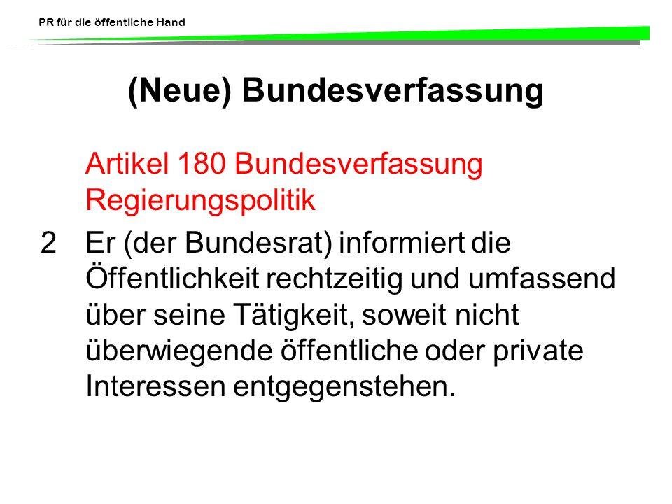 (Neue) Bundesverfassung