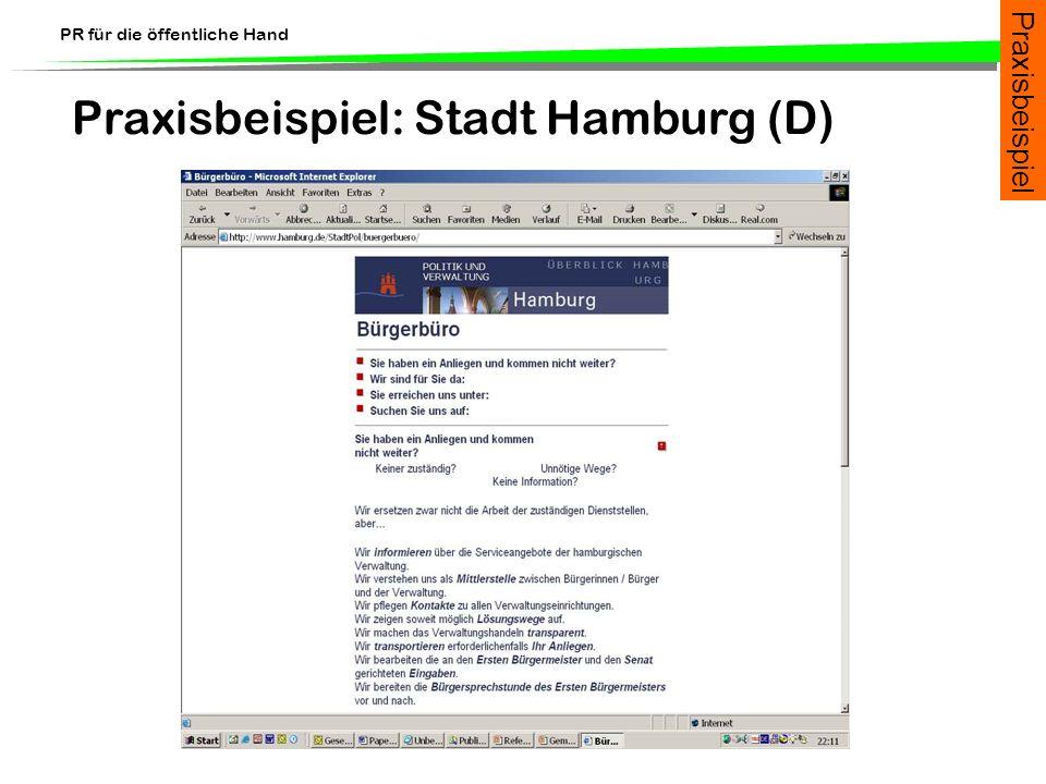 Praxisbeispiel: Stadt Hamburg (D)