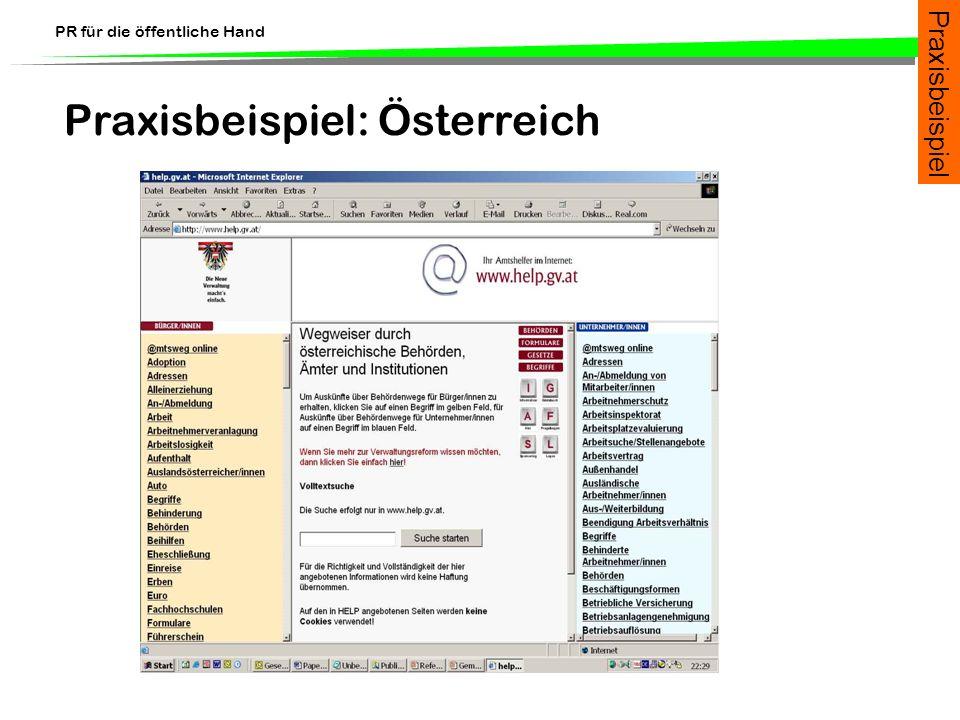 Praxisbeispiel: Österreich