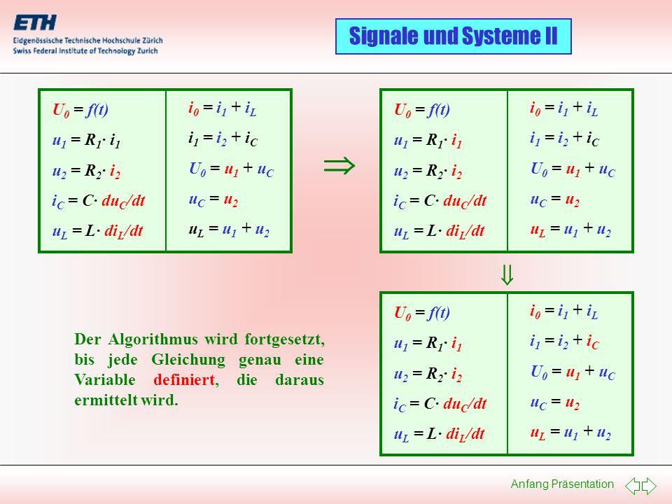   U0 = f(t) u1 = R1· i1 u2 = R2· i2 iC = C· duC/dt uL = L· diL/dt