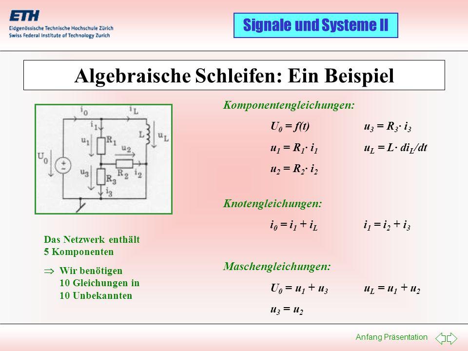 Algebraische Schleifen: Ein Beispiel