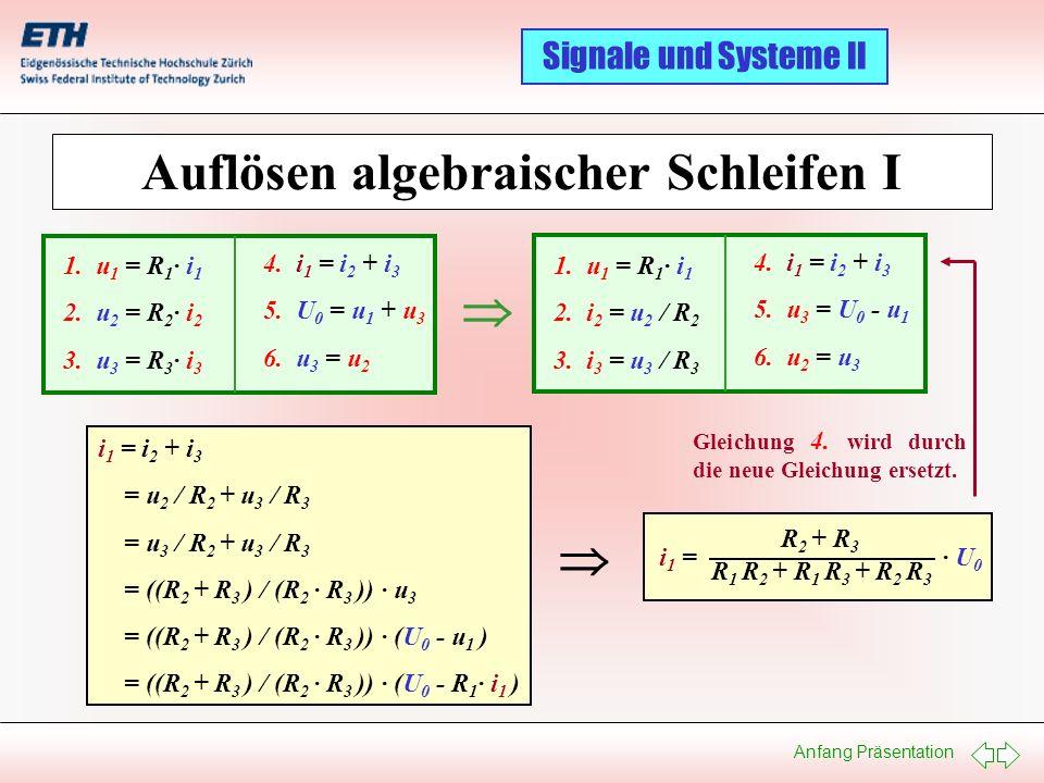 Auflösen algebraischer Schleifen I