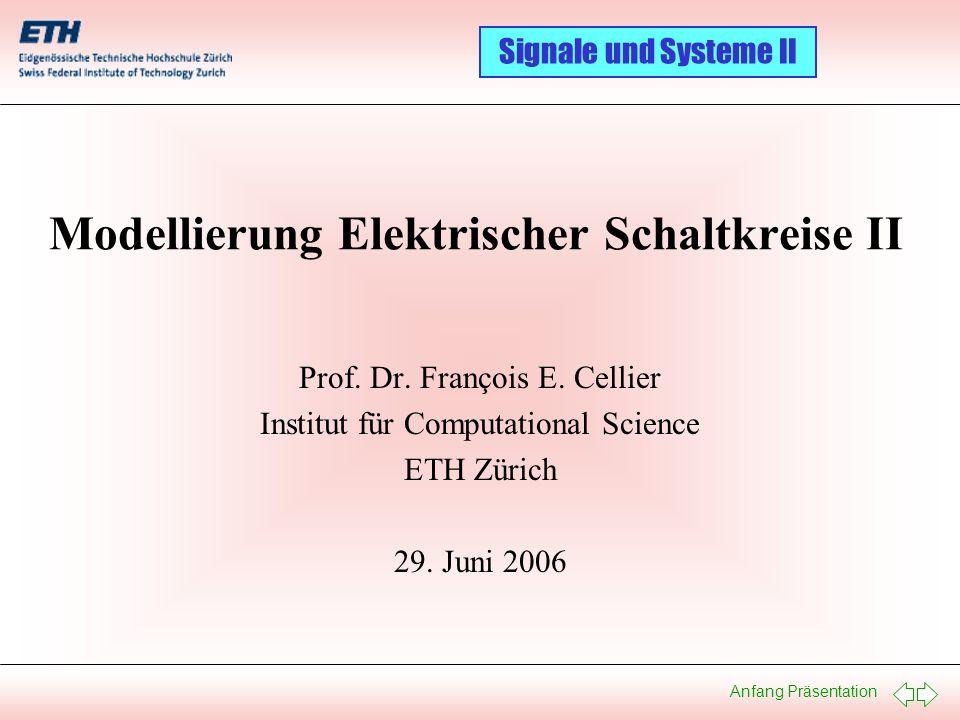 Modellierung Elektrischer Schaltkreise II