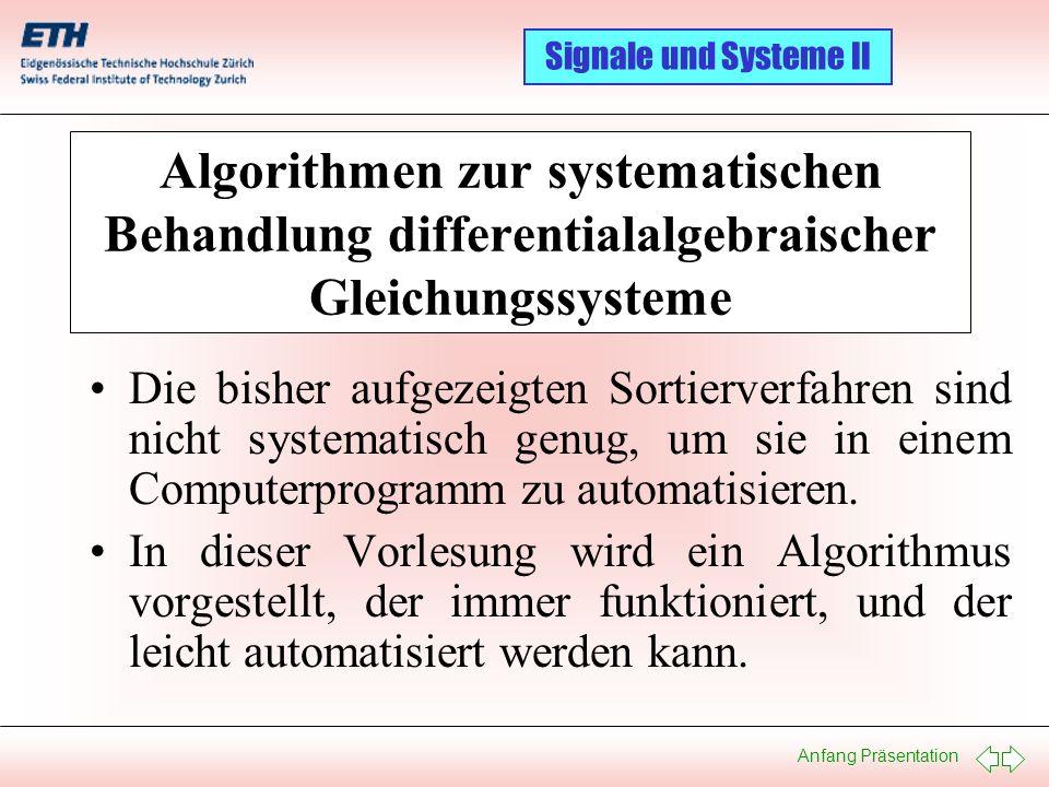 Algorithmen zur systematischen Behandlung differentialalgebraischer Gleichungssysteme