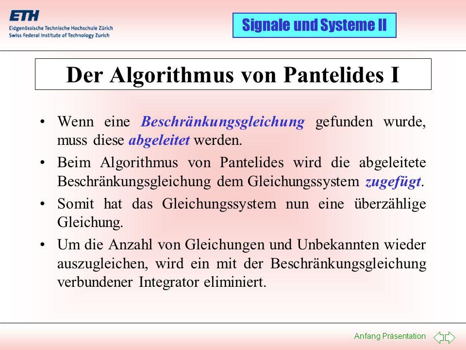 Der Algorithmus von Pantelides I