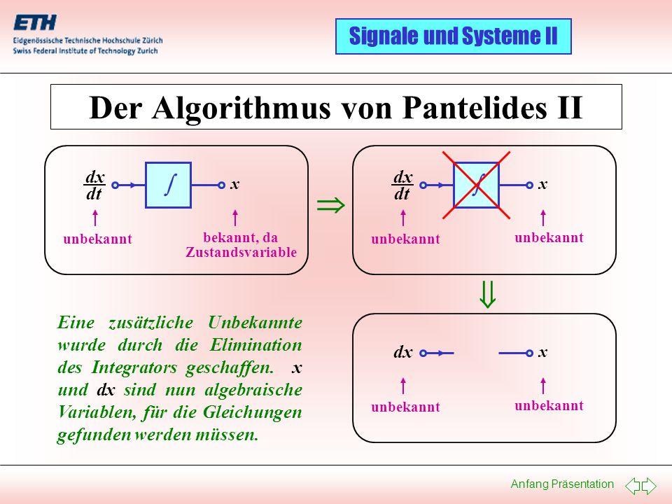 Der Algorithmus von Pantelides II