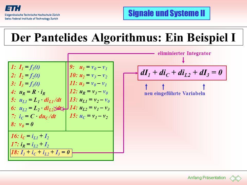 Der Pantelides Algorithmus: Ein Beispiel I