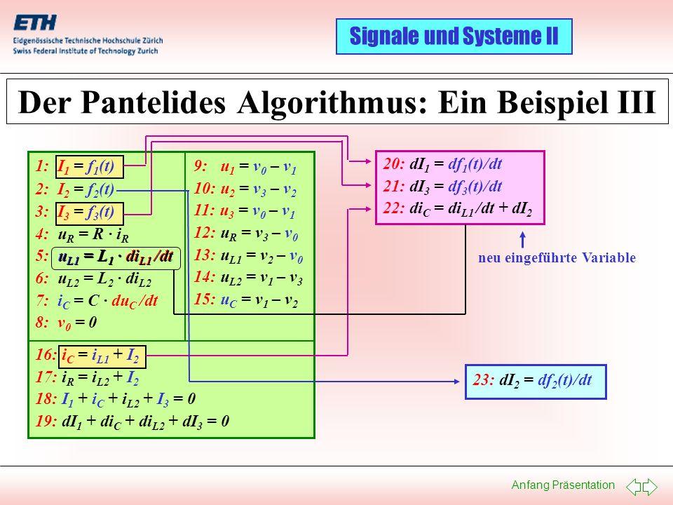 Der Pantelides Algorithmus: Ein Beispiel III