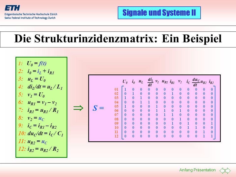 Die Strukturinzidenzmatrix: Ein Beispiel