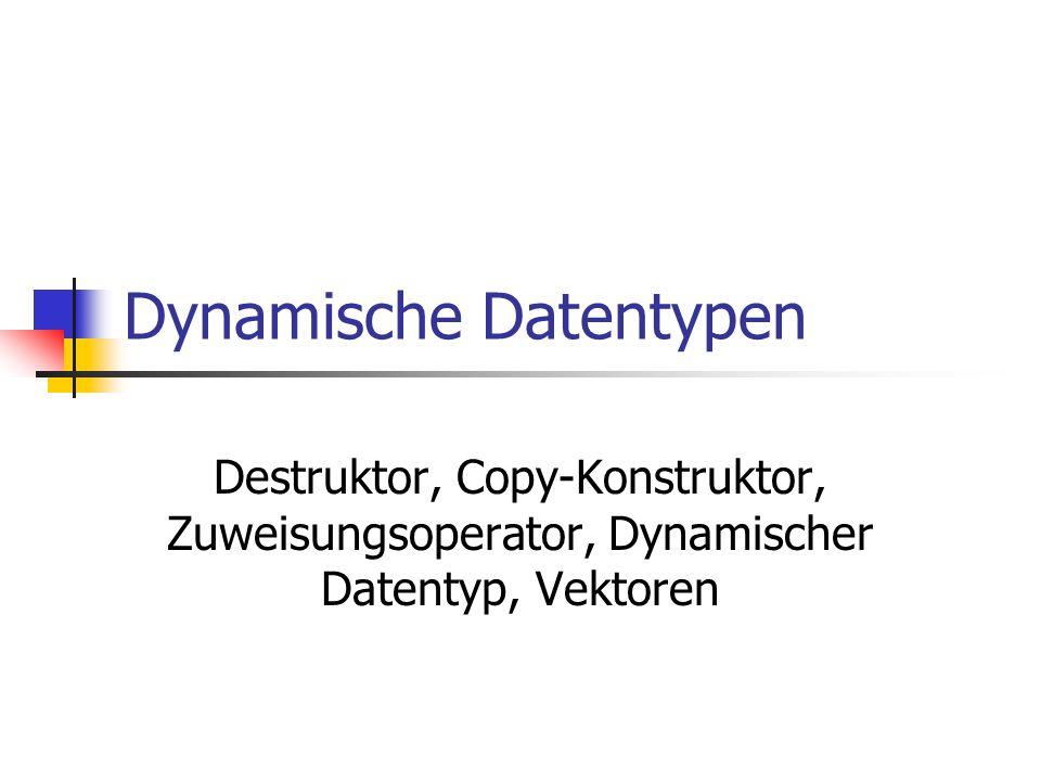 Dynamische Datentypen