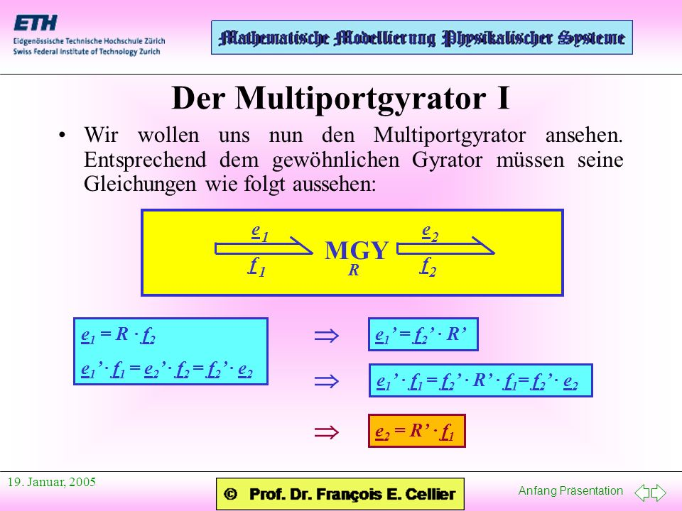 Der Multiportgyrator I