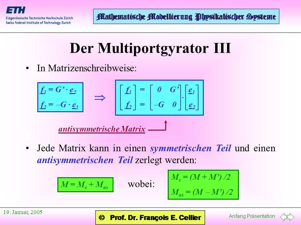 Der Multiportgyrator III