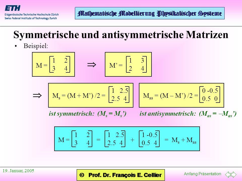 Symmetrische und antisymmetrische Matrizen