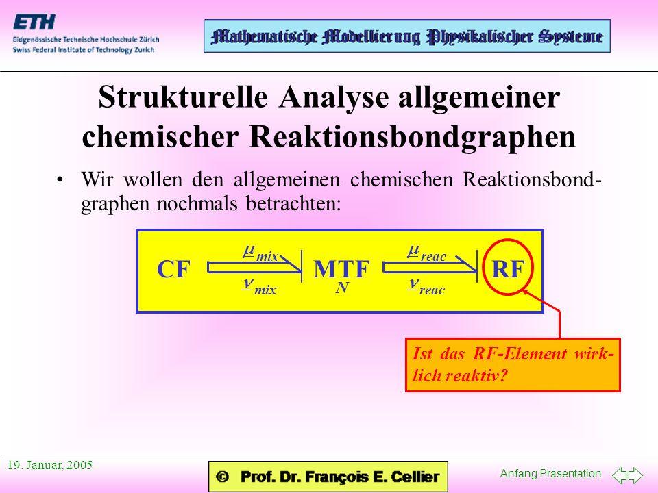 Strukturelle Analyse allgemeiner chemischer Reaktionsbondgraphen