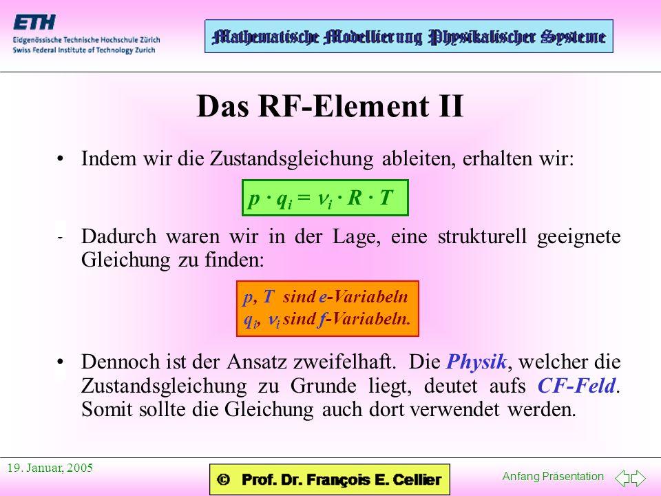 Das RF-Element II Indem wir die Zustandsgleichung ableiten, erhalten wir: