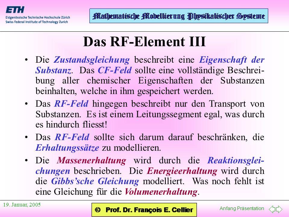 Das RF-Element III