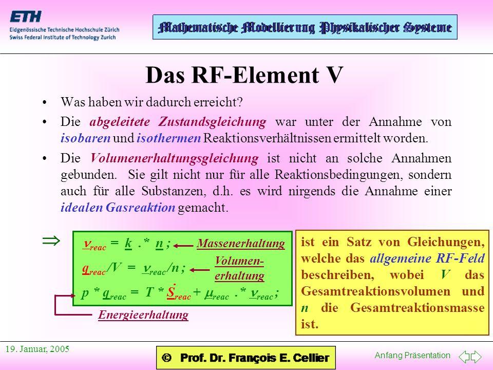 Das RF-Element V  Was haben wir dadurch erreicht