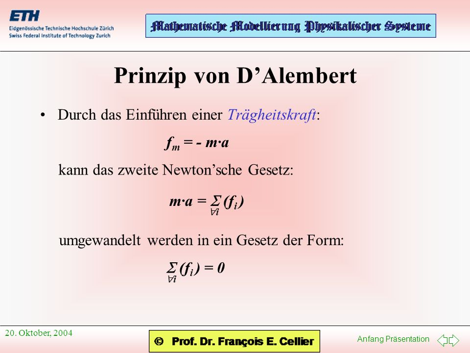 Prinzip von D'Alembert
