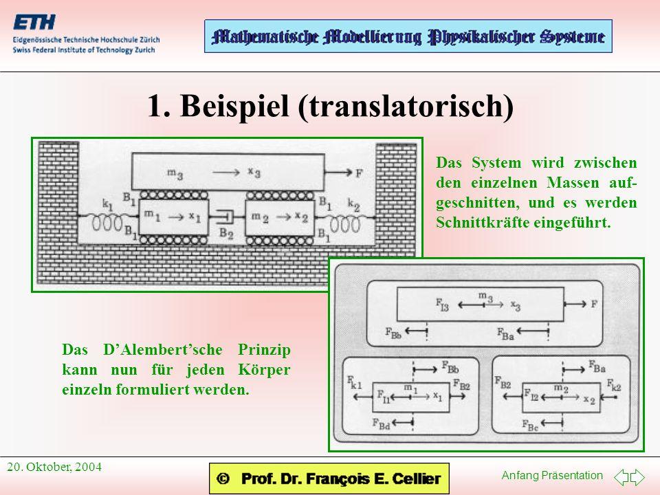 1. Beispiel (translatorisch)