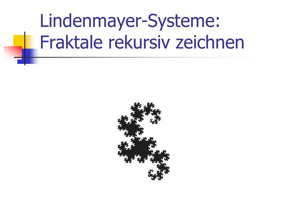 Lindenmayer-Systeme: Fraktale rekursiv zeichnen