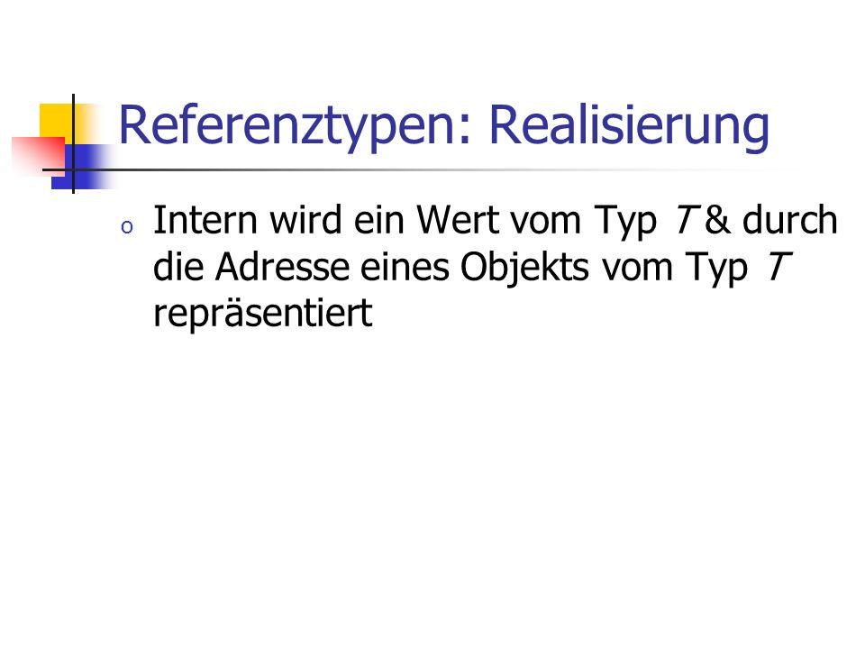 Referenztypen: Realisierung