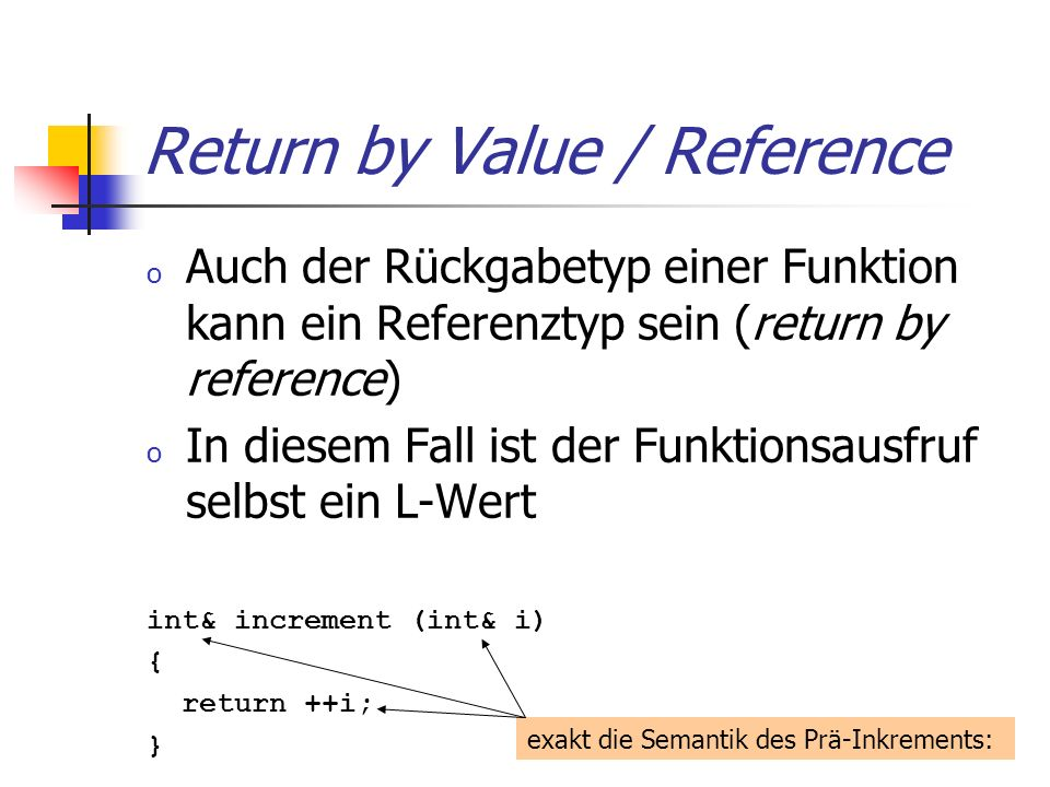 Return by Value / Reference