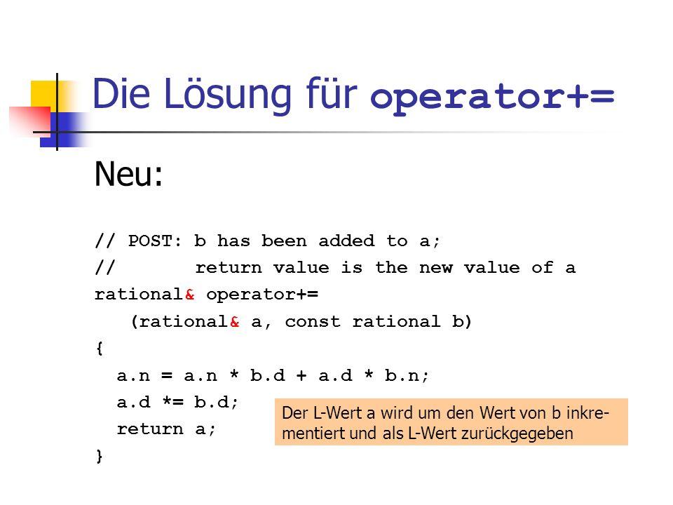 Die Lösung für operator+=