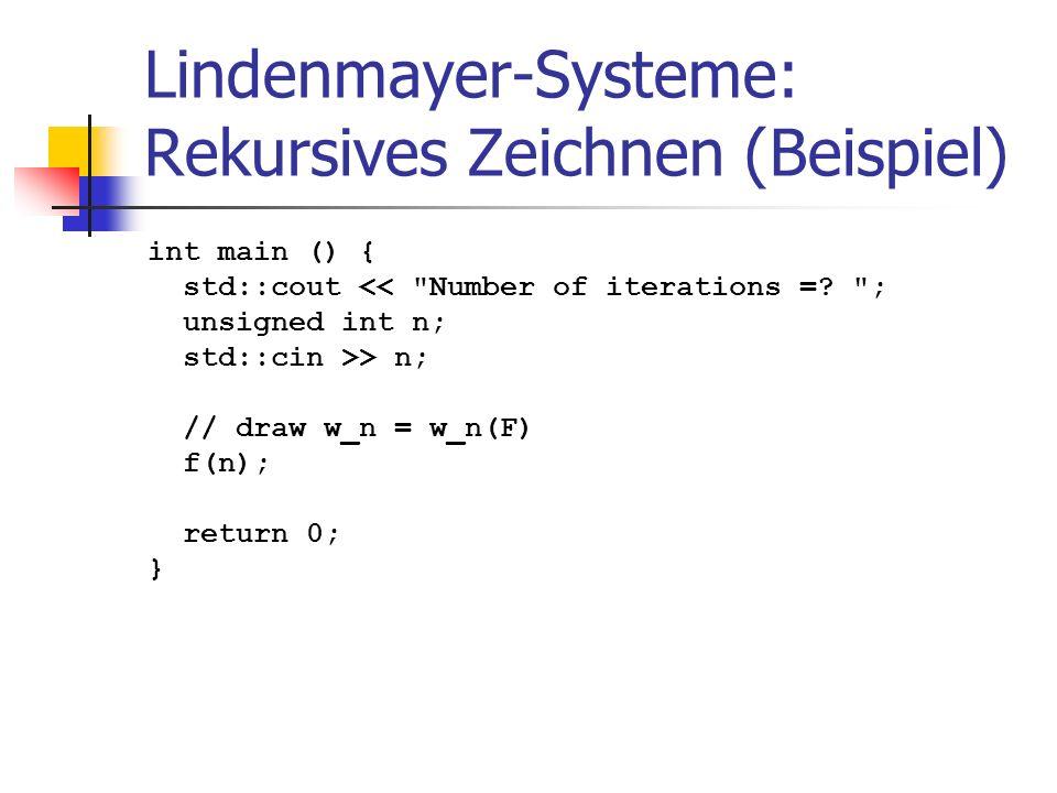 Lindenmayer-Systeme: Rekursives Zeichnen (Beispiel)