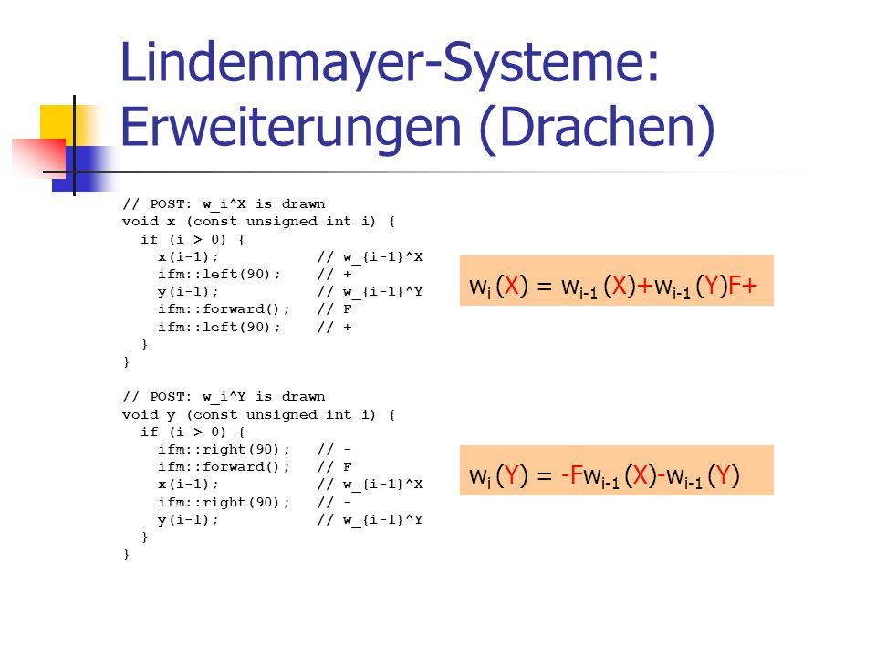 Lindenmayer-Systeme: Erweiterungen (Drachen)