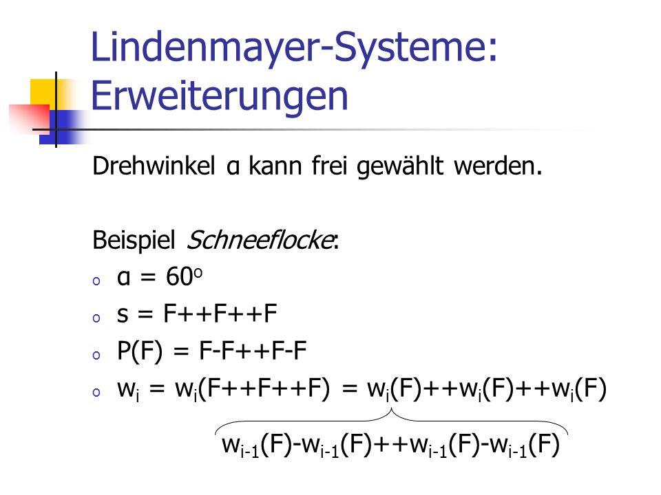 Lindenmayer-Systeme: Erweiterungen