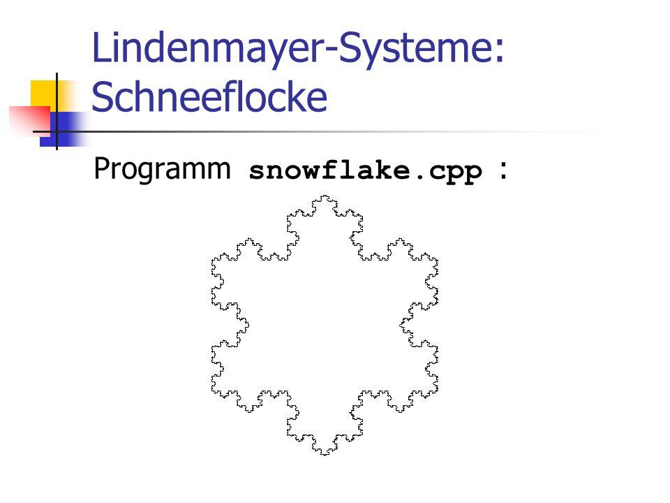 Lindenmayer-Systeme: Schneeflocke