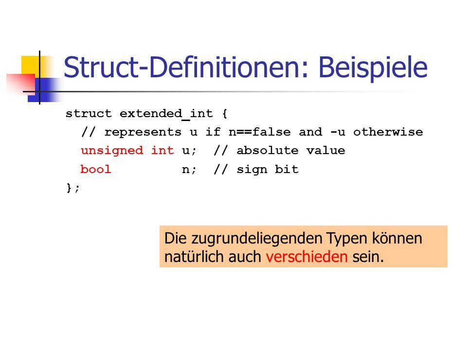 Struct-Definitionen: Beispiele