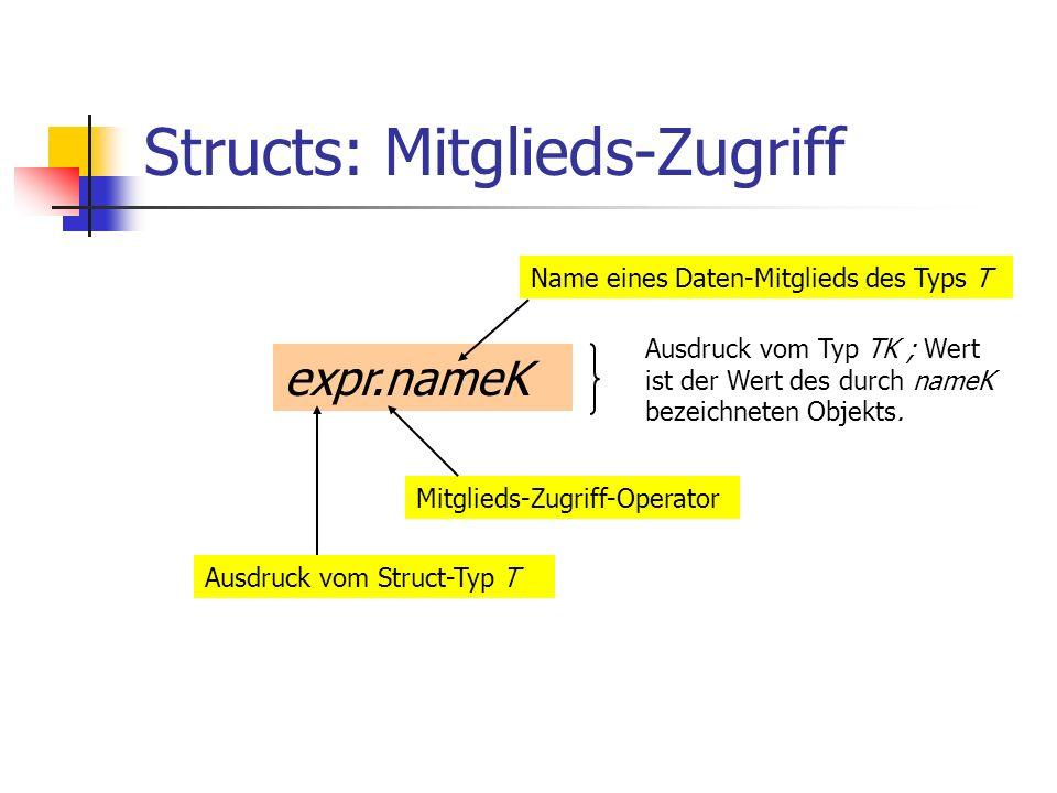 Structs: Mitglieds-Zugriff