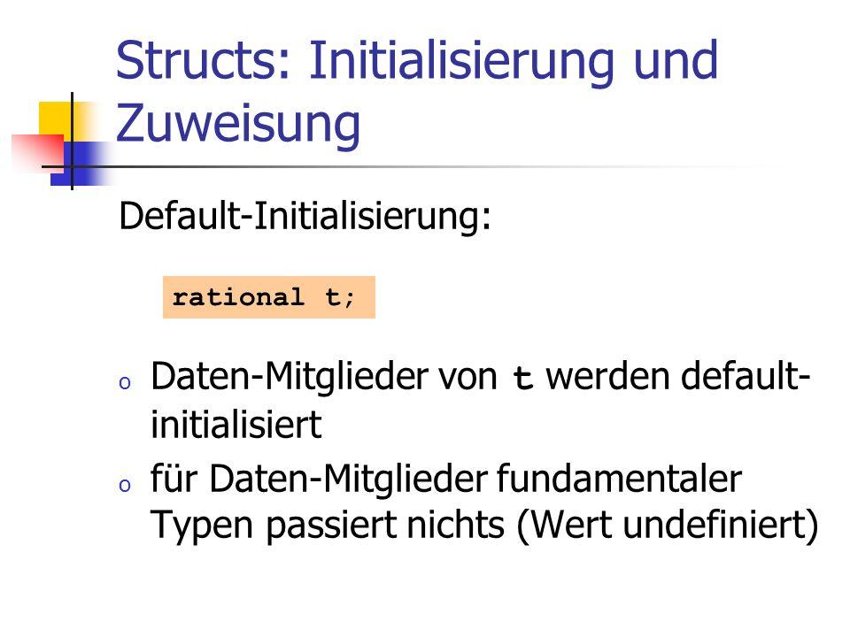 Structs: Initialisierung und Zuweisung