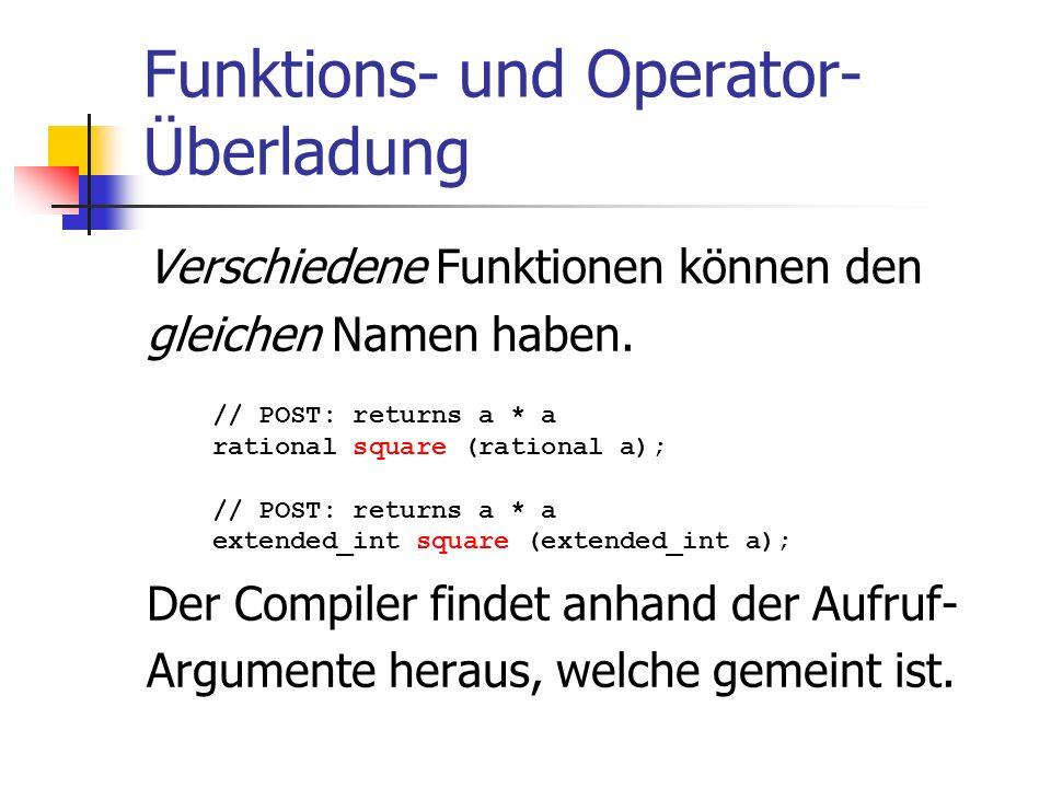 Funktions- und Operator-Überladung