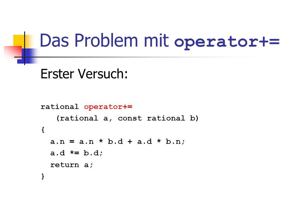 Das Problem mit operator+=