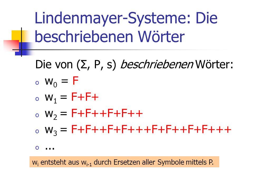 Lindenmayer-Systeme: Die beschriebenen Wörter