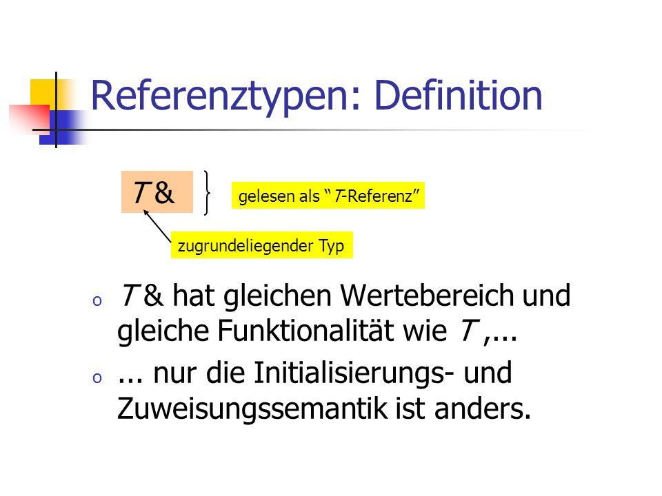 Referenztypen: Definition